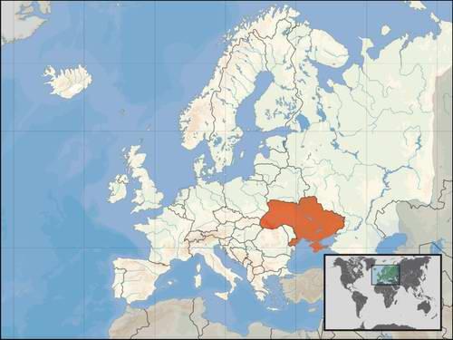 Положення україни на карті світу