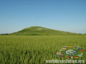 Thick grave mound