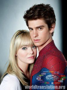 New Spider-Man Andrew Garfield, Peter Parker, Emma Stone