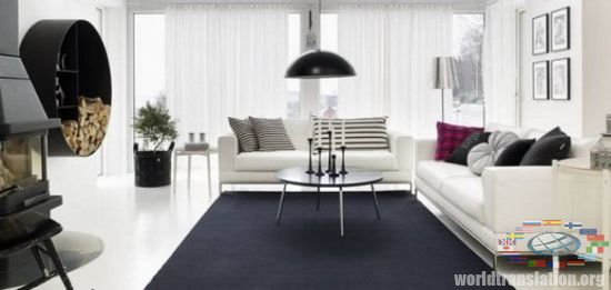 The interior in the Scandinavian style