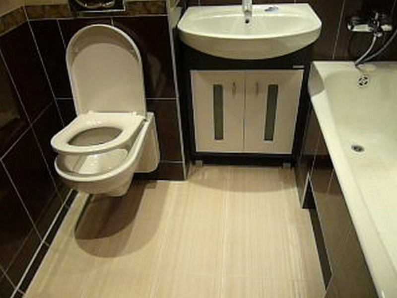 Ремонт совмещенных ванных комнат фото