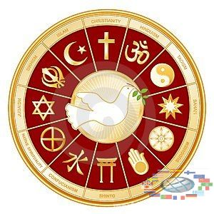 world religions Christianity, Judaism and Islam